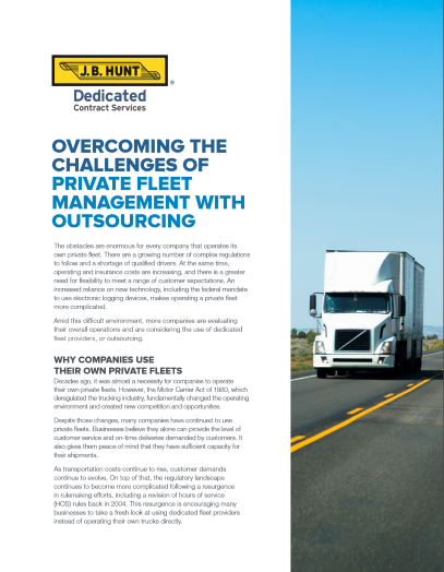 Overcoming the Challenges of Private Fleet